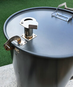 Ugly Drum Smoker UDS hinge and exhaust