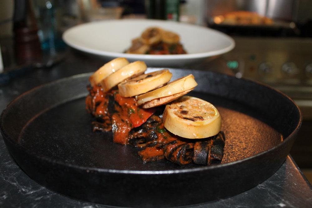 Smoked Chorizo Stuffed Calamari