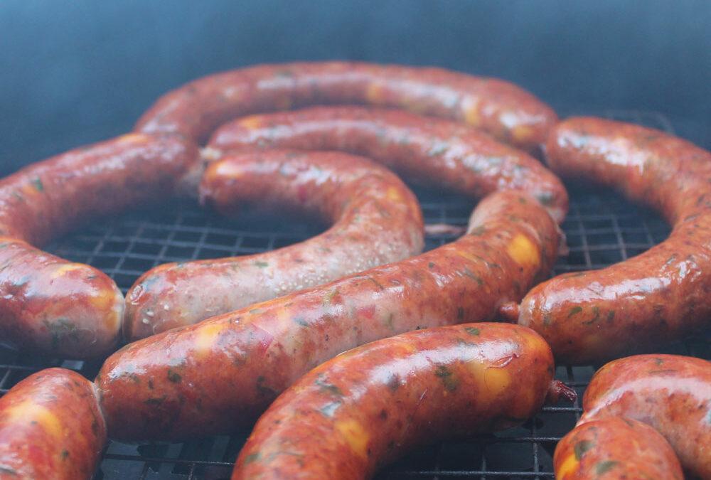 Smoked jalapeno and mozzarella sausage